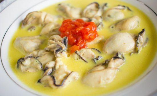 冷凍カキで作る簡単フランス風カレースープ